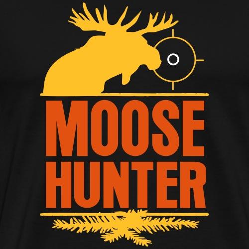 Jägershirt Elch Jäger Moose Hunter Elche Jagd Hunt - Männer Premium T-Shirt