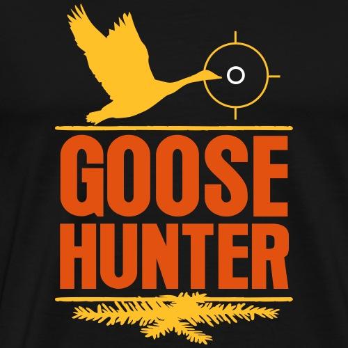 Jägershirt Gänse Jäger Goose Hunter Wildgans Jagd - Männer Premium T-Shirt