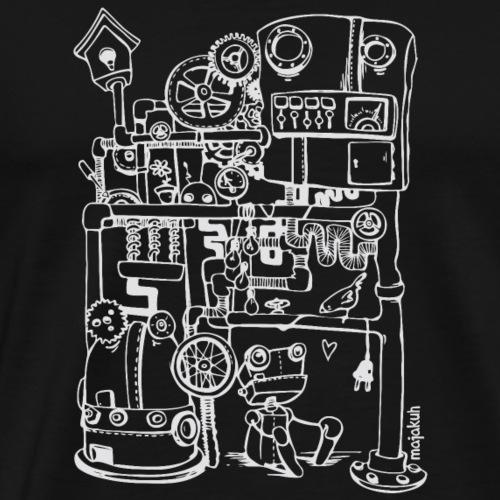 Robin der Roboter und einfach nur Vogel (weiß) - Männer Premium T-Shirt