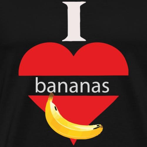 Ein Herz für Bananen Geschenk für Freunde - Männer Premium T-Shirt