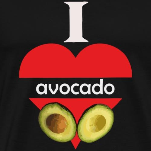 Ein Herz mit Avocados vegan Geschenk - Männer Premium T-Shirt