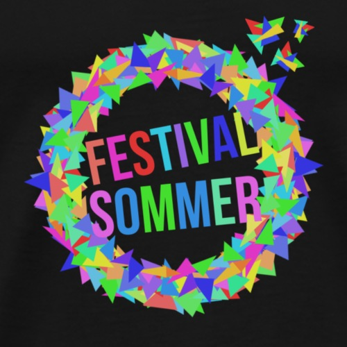 Festival Design without Shadow by ghost squad - Männer Premium T-Shirt
