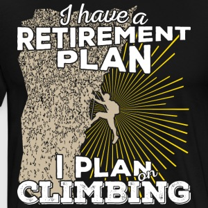 Retirement plan klatring (lys) - Premium T-skjorte for menn