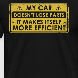Funny Car Lover gave ide - Herre premium T-shirt