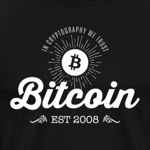 Bitcoin vuosikerta suunnittelu 02 - Miesten premium t-paita