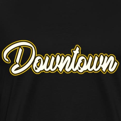 Downtown gelb - Männer Premium T-Shirt