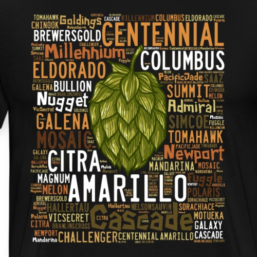 HOPS VARIETY - Men's Premium T-Shirt