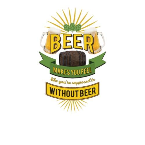Beer makes you Feel - Kul T-shirt - By PAN - Premium-T-shirt herr