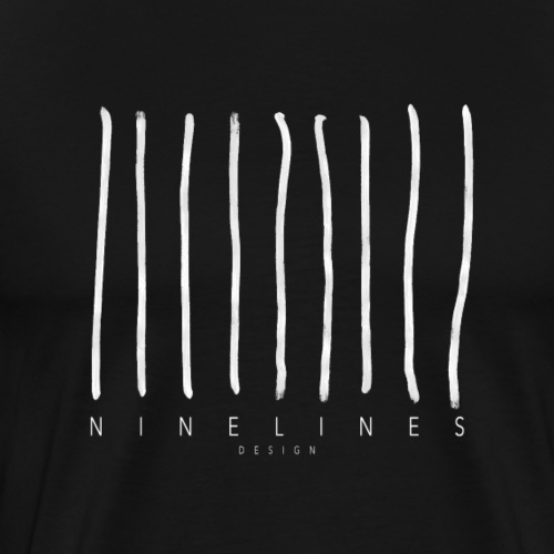 Ninelinesdesign Logo 1 #whiteedition - Männer Premium T-Shirt