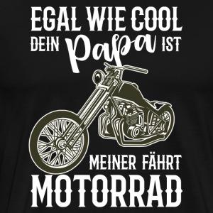 Motorrad Chopper cooler Papa Geschenkidee - Männer Premium T-Shirt