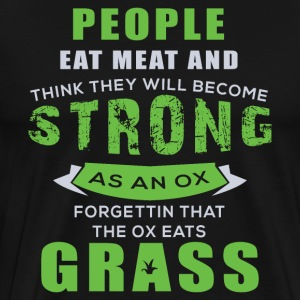 Cattle eat grass - Men's Premium T-Shirt