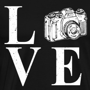 I LOVE PHOTOGRAPHY - Herre premium T-shirt