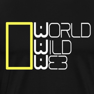 World Wild Web - Premium-T-shirt herr