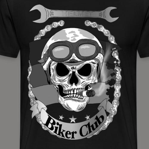 Biker Clup Skull - Männer Premium T-Shirt