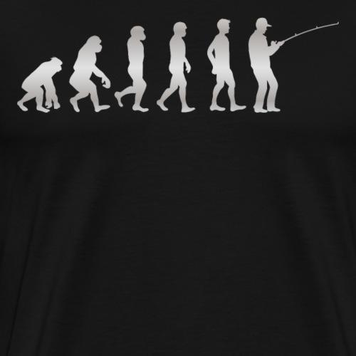 Die menschliche Evolution - bis hin zum ANGLER - Männer Premium T-Shirt