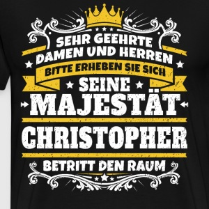 His Majesty Christopher - Men's Premium T-Shirt