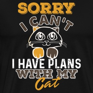 Plans with cat - Men's Premium T-Shirt