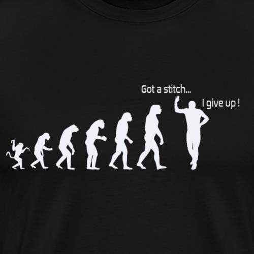 Evolution de l'homme:Point de côté...j'abandonne ! - T-shirt Premium Homme