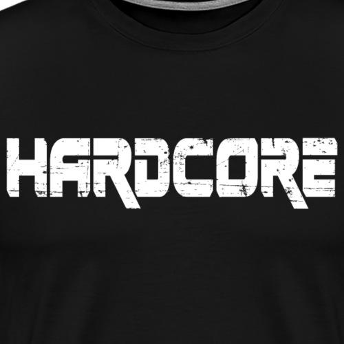 HARD CORE (white Design) - Männer Premium T-Shirt
