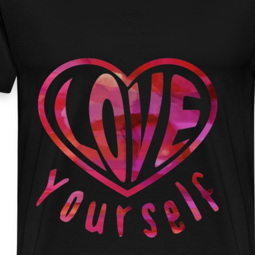 Love Yourself - Herz - Männer Premium T-Shirt
