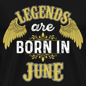 Legends Född juni - Premium-T-shirt herr
