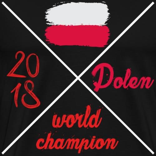 Polen wm Tshirt Weltmeisterschaft 2018 Fahne fan - Männer Premium T-Shirt
