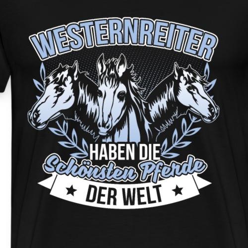 Westernreiterin Westernreiter Pferd Reitsport - Männer Premium T-Shirt