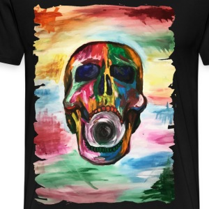 Colorful screaming skull - Men's Premium T-Shirt
