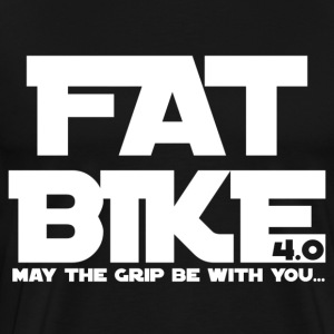 FATBIKE - MAY THE GRIP BE WITH YOU 1 - Men's Premium T-Shirt
