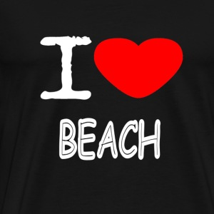 I LOVE BEACH - Premium T-skjorte for menn