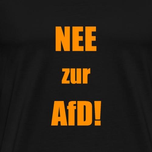 NEE zur AFD simpel orange - Männer Premium T-Shirt