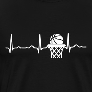 ECG HEARTBACK BASKETBALL white - Men's Premium T-Shirt
