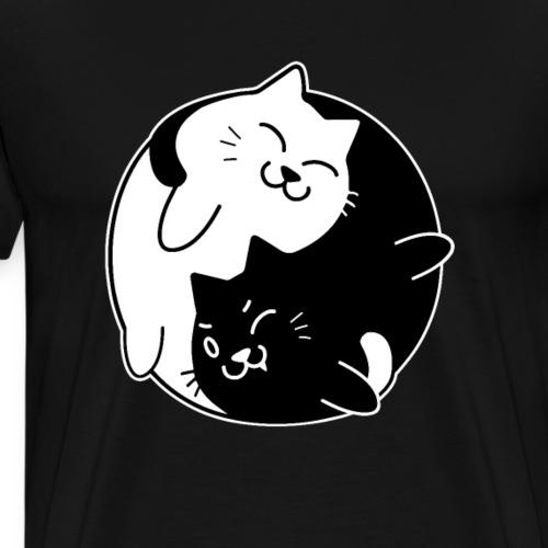 Yin Yang Cats Cute Tshirt for Cat Lovers - Camiseta premium hombre