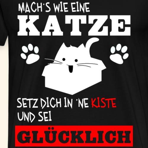 Katzenglück - Männer Premium T-Shirt