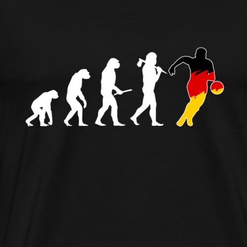 Geschenk Deutschland Fußballfan Evolution deutsch - Männer Premium T-Shirt