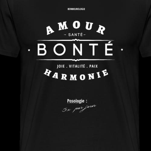 Aller Plus H4ut - Amour Bonté - Blanc - T-shirt Premium Homme