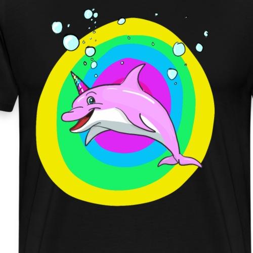 Unicorn dolphin - Mannen Premium T-shirt