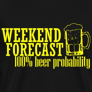 WEEKEND PROGNOS 100 BEER gul - Premium-T-shirt herr
