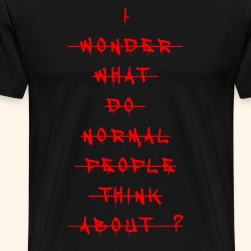 I Wonder - Men's Premium T-Shirt
