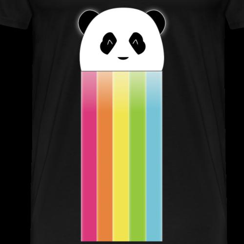 Neon Panda Night Logo - T-shirt Premium Homme