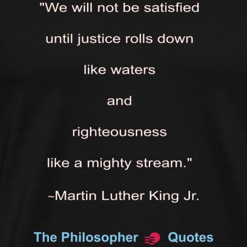 King Until Justice w - Mannen Premium T-shirt