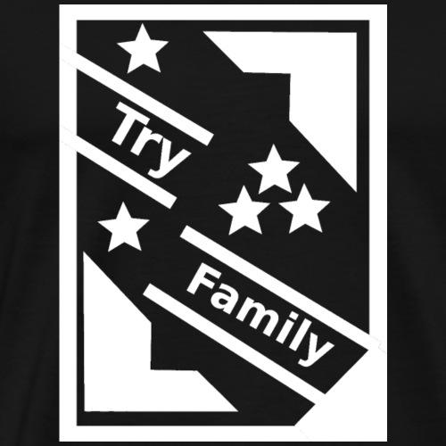 TryFamily_Hoodie_2_white - Männer Premium T-Shirt
