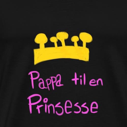 Pappa til en prinsesse - Premium T-skjorte for menn