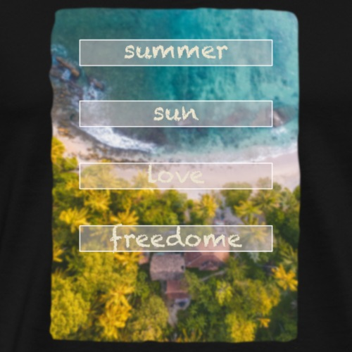 Summer sun Love freedome - Männer Premium T-Shirt