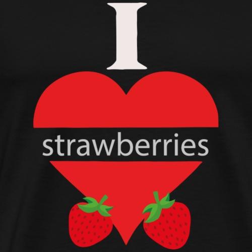 Ein Herz mit Erdbeeren Geschenkidee - Männer Premium T-Shirt