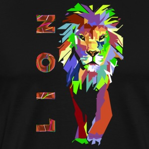 Lion Pop Art (ms) - Men's Premium T-Shirt