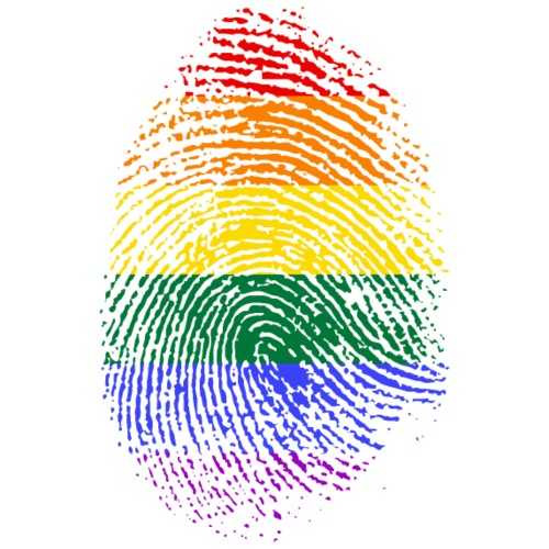 Homosexual Flag - Fingerprint - Männer Premium T-Shirt