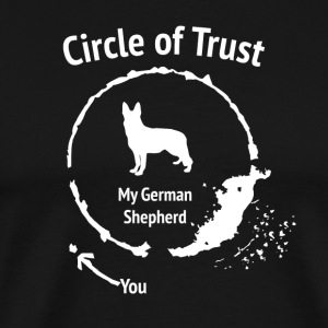 Funny German Shepherd Shirt - Circle of Trust - Men's Premium T-Shirt