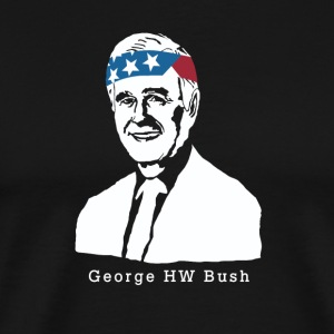 President George HW Bush, American Patriot Vintage - Men's Premium T-Shirt