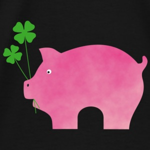 Pig with cloverleaf - Men's Premium T-Shirt